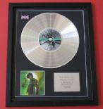 MARK OWEN Green Man CD / PLATINUM PRESENTATION DISC